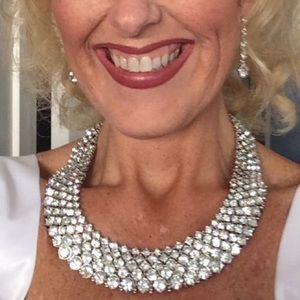 Jewelry - Rhinestone Statement Necklace Bridal Necklace